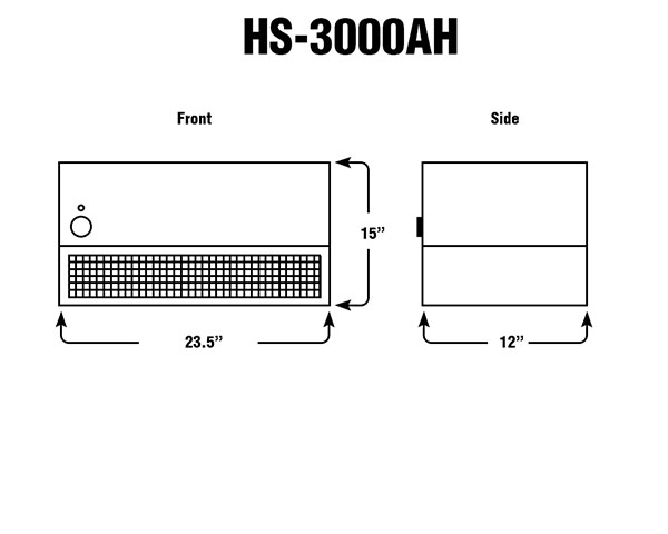 HS-3000A4 Room Air Purifier - Fume Hoods
