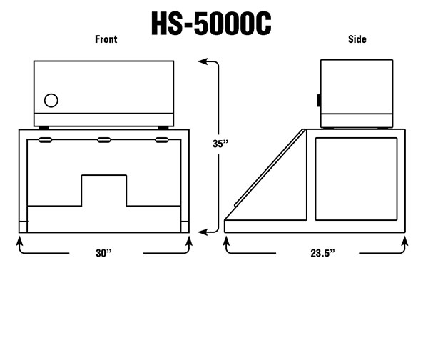 HS-5000C 30'' Wide Sloping Front - Fume Hoods