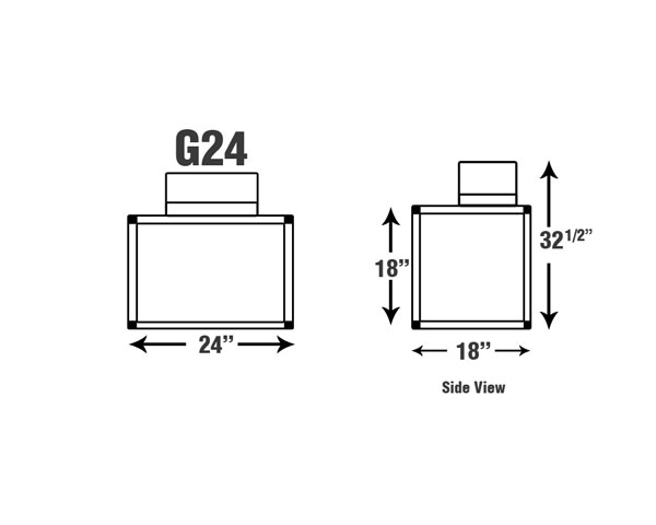 G-24  24'' Wide Enclosure - Fume Hoods